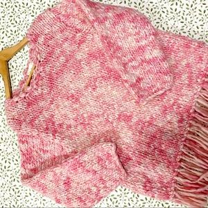 Vintage Adini chunky wool knitted pink sweater